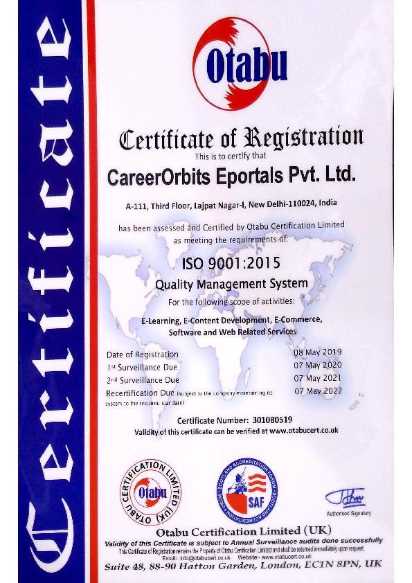 Otabu ISO Certification